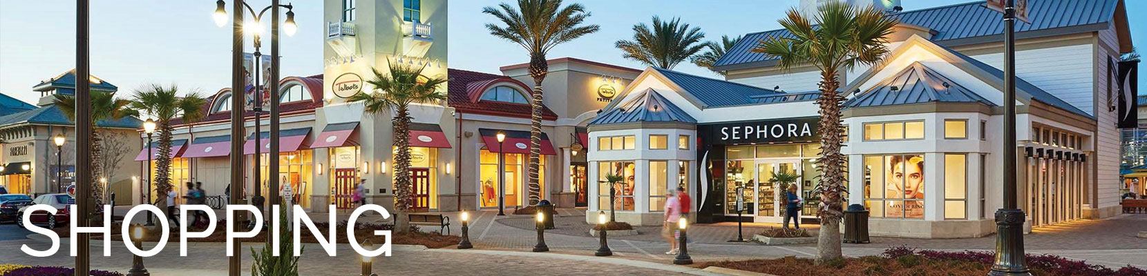 Destin shopping near St. Kitts condo.